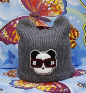 Зимняя шапка подрастковая Ocean Angel Grey Glasses