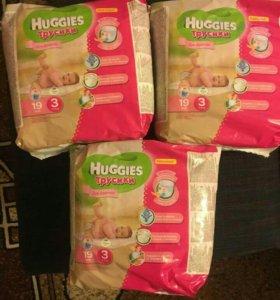 Huggies Хагис 3 трусики для девочек