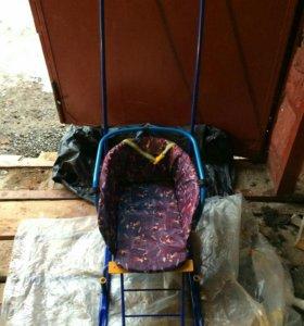 Санки на колесиках