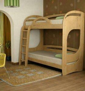 Детская двухъярусная кровать Фанки Пайн