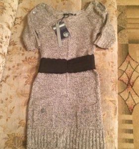 Платье вязанное новое