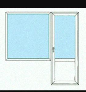 СРОЧНО. Балконная дверь с окном и подоконником