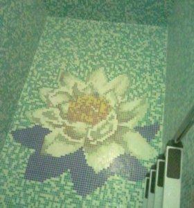 Панно и картины из стеклянной мозаики