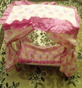 Детская кроватка для куклы