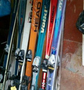 Горные лыжи 170 и 190см