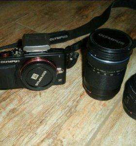 Фотоаппарат Olympus Pen E-PL6 с объективами