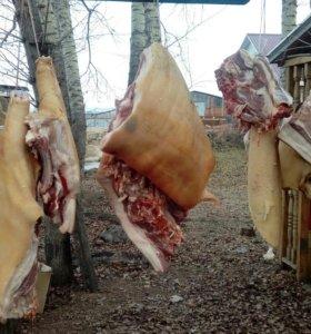 Свинина деревенская частями
