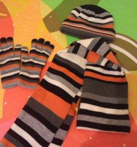 Шапка, шарф, перчатки (комплект)