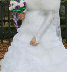 Свадебное платье на высокую невесту