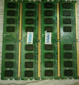 DDR2 4Gb (4*1Gb) для компьютеров