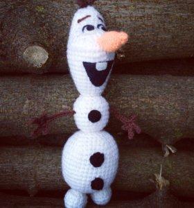Вязаные игрушки снеговик Олаф⛄️