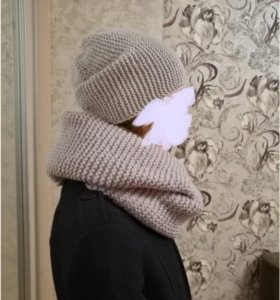 Комплект: шапка, шарф (снуд)