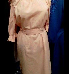 Платье лен новое