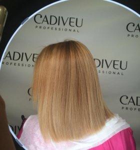 Кератиновые выпрямление волос