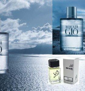 Acqua di Gioia и di Gio Shaik Giorgio Armani Шлейф