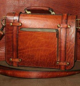 Портфели сумки кожа Италия.