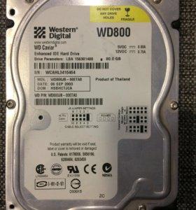Жёсткий диск Western Digital 80Gb