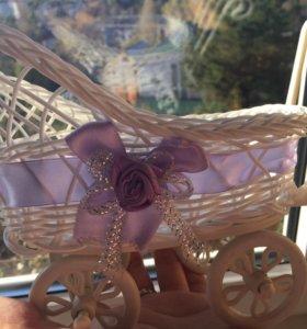 Декоративная колясочка