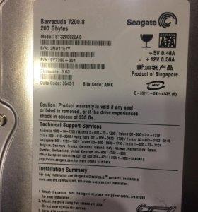 Жёсткий диск Seagate 200Gb