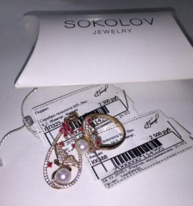 Набор подвеска и кольцо Sokolov