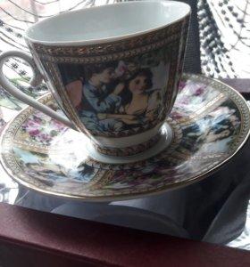 Чашка и блюдце. Чайная пара. Украшение интерьера