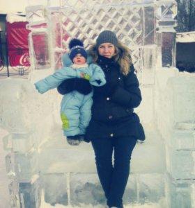 Пуховик для будущих мам зима