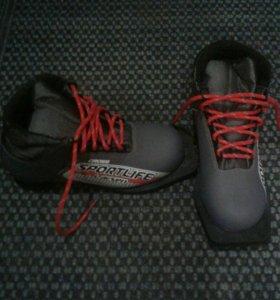 Лыжные ботинки33р.