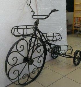 """Подставка для цветов кованая """"Велосипед"""""""