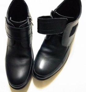 Кожаные ботинки для подростка размер 39