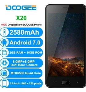 Новый Doogee x20. Лучший недорогой смартфон