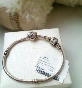 Pandora браслет и шарм princess оригинал