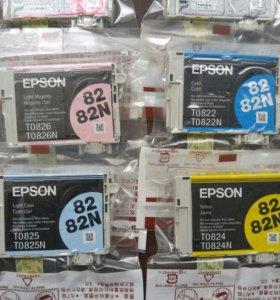 Оригинальные картриджи epson r270/290/rx590