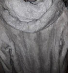 Полушубок норковый с капюшоном