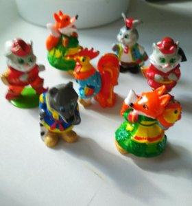 Коллекции игрушек из шоколадных яиц