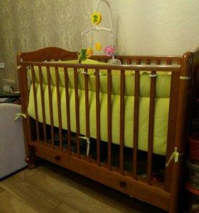 """Детская кроватка-качалка """"Ванечка"""" (Гандылян)"""