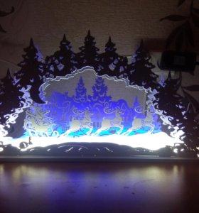 Ночник, Новогоднее панно, Рождественские огни