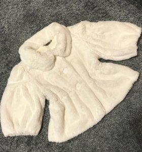 Полушубок белый