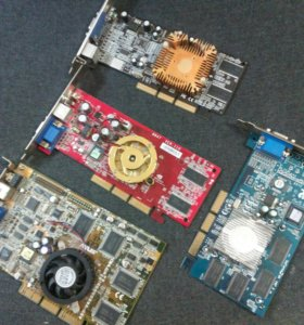 4 AGP Видеокарты