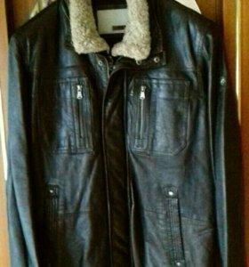 Куртка кожаная классическая зимняя брэнд MILESTONE