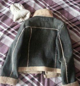 Джинсовая куртка(теплая )