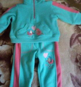 Спортивный флисовый костюм для девочки