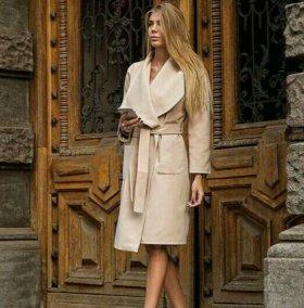 Новое Стильное пальто кашемир
