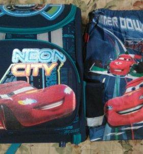 Рюкзак+мешок для сменки,тачки,бу