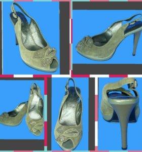 Туфли женские, новые, велюр,нат.кожа, р.39