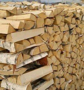 Колотые дрова. Дуб-берёза