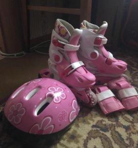 Ролики детские+шлем+защита на руки