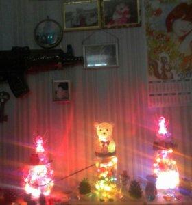 Светящие самодельные баночки с огоньками