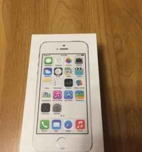 Коробка iPhone 5s silver 32gb
