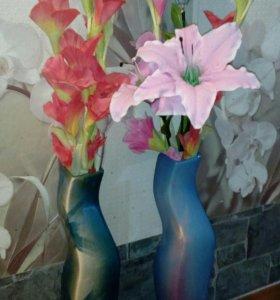 Декоративные вазы для цветов!!!