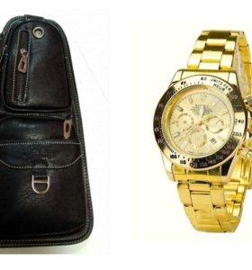Мужская сумка-рюкзак Jeep 1941+Часы Rolex Dayton